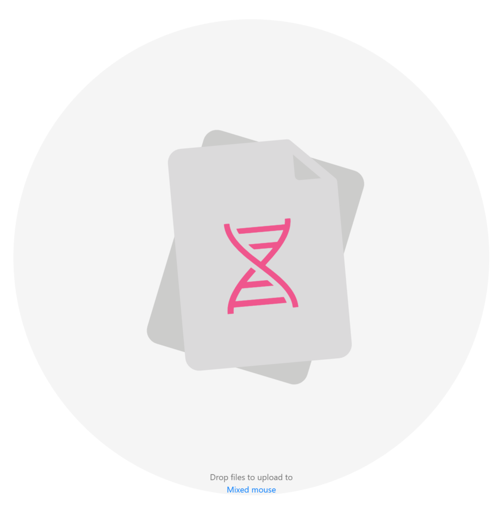 Simply upload de-multiplexed fastq files from your plate based hybridoma sequencing run with simple drag and drop. The fastq files are typically paired-end reads to cover the entire variable domain of the antibody.